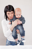 Angry young mother Stock Images