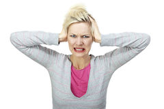 Angry young woman Stock Image