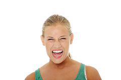Angry young woman Royalty Free Stock Image