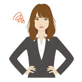 Angry young woman in business suit Stock Image