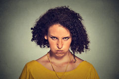 Angry young woman, nervous, upset, about to have nervous breakdown Royalty Free Stock Images