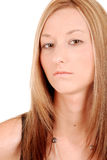 Angry young woman portrait Stock Photo