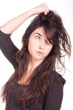 Angry young woman Royalty Free Stock Photo