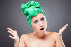 Angry young woman shout gesturing Royalty Free Stock Image