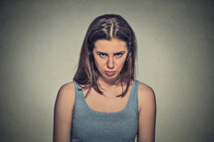 Angry young woman about to have nervous atomic breakdown Royalty Free Stock Photos