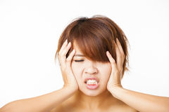 angry young woman and yelling screaming Royalty Free Stock Image