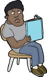 Angry Youth Reading Book Royalty Free Stock Image