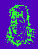 Angry zombie head. Vector illustration. Angry zombie head. Horror image. Vector illustration. States of mind Stock Photos