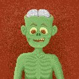 Angry Zombie - Pixel Art Illustration Stock Image