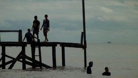 Angsana海滩 免版税库存照片