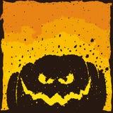 Angst aanjagende Halloween-Pompoen, Grunge-Zegel Royalty-vrije Stock Afbeeldingen