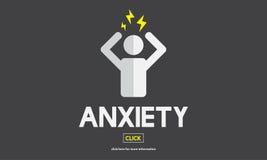 Angst-Angst-Störungs-Druck-Spannungs-Konzept Lizenzfreie Stockbilder