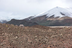 Angstaanjagend landschap, Kraters van het Maan Nationale Monument royalty-vrije stock afbeelding