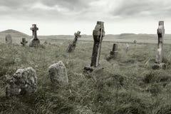 Angstaanjagende gravesite Royalty-vrije Stock Foto