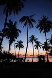 angthong海岛ko mu日出 库存图片