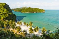 AngThong海洋国家公园观点,苏梅岛,泰国 免版税库存图片