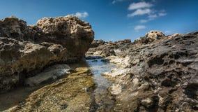 angthong εθνική όψη της Ταϊλάνδης θάλασσας πάρκων Πανόραμα της πέτρας και του ουρανού Θάλασσα idyll Στοκ εικόνες με δικαίωμα ελεύθερης χρήσης