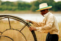 angthong εθνικό πάρκο Ταϊλάνδη ατόμων αλιείας Στοκ Φωτογραφία