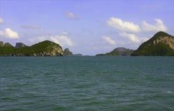 Angthong berg - medborgareflottan parkerar Arkivbilder