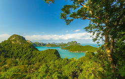 AngThong Marine National Park Viewpoint, Samui, Thailand Royaltyfri Fotografi