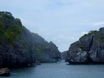 Angthong Marine Park. National Park in Thailand, near Koh Phangan, Koh Samui stock photos