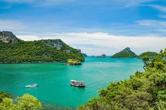 Angthong Nationale Marine Bay Park stock foto