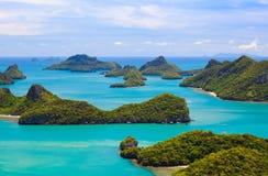 Angthong parkerar nationell marin-, den kohSamui ön, Thailand Arkivbild