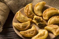 Angu pastel, Kukurydzany pastel, Brazylijski jedzenie, tradicional jedzenie/ Zdjęcie Stock
