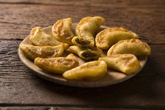 Angu pastel, Kukurydzany pastel, Brazylijski jedzenie, tradicional jedzenie/ Zdjęcia Stock