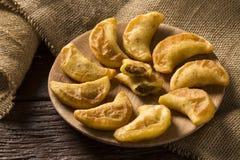 Angu pastel, Kukurydzany pastel, Brazylijski jedzenie, tradicional jedzenie/ Fotografia Royalty Free
