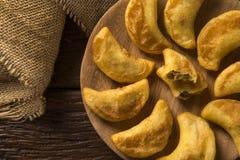 Angu pastel, Kukurydzany pastel, Brazylijski jedzenie, tradicional jedzenie/ Obraz Royalty Free