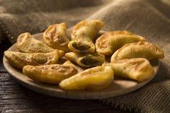 Angu pastel, Kukurydzany pastel, Brazylijski jedzenie, tradicional jedzenie/ Zdjęcia Royalty Free