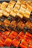 Anguila asada a la parilla coreana en 3 estilos Foto de archivo libre de regalías