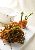 Anguila cocida alimento chino Imagen de archivo libre de regalías
