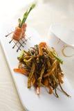 Anguila cocida alimento chino Imagen de archivo