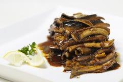 Anguila cocinada Foto de archivo