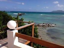 Anguilla. Beach rock Sea Stock Photos