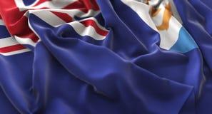 Anguilla Flag Ruffled Beautifully Waving Macro Close-Up Shot Royalty Free Stock Images