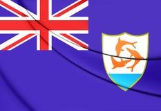 anguilla flagga vektor illustrationer