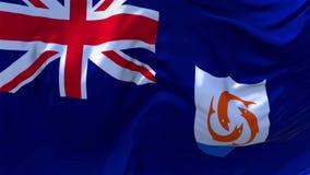 06 Anguilla flagga som vinkar i fortlöpande sömlös öglasbakgrund för vind royaltyfri illustrationer
