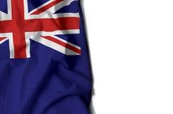 anguilla ha corrugato la bandiera, spazio per testo Immagini Stock Libere da Diritti
