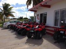Anguilla Motorbike. Garage Red Mechanics Stock Photography