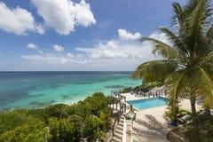 Anguilla plaże: Tłum zatoka obrazy stock