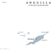 Anguilla political map Royalty Free Stock Image