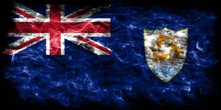 Anguilla smoke flag, British Overseas Territories, Britain depen. Dent territory flag Royalty Free Stock Photo