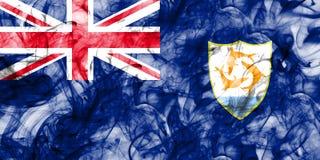 Anguilla smoke flag, British Overseas Territories, Britain depen. Dent territory flag Royalty Free Stock Images
