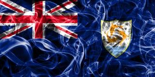 Anguilla smoke flag, British Overseas Territories, Britain depen. Dent territory flag Royalty Free Stock Image