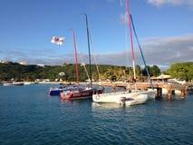 Anguilla yacht Fotografering för Bildbyråer