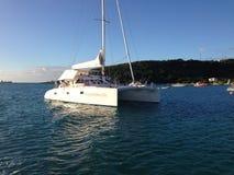 Anguilla Yacht Caribbean sea. Boat  Beach Sun day Stock Photography