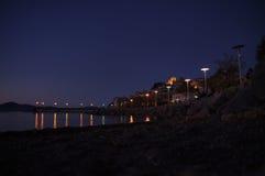Anguillara在晚上 免版税库存图片